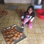 Bröd bakas på barnbyn både för försäljning och till frukost.